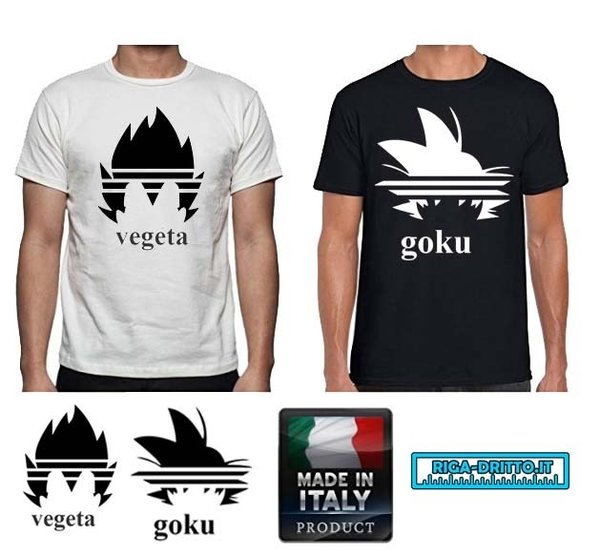 t-shirt goku vegeta dragon ball per bambini e adulti UNISEX