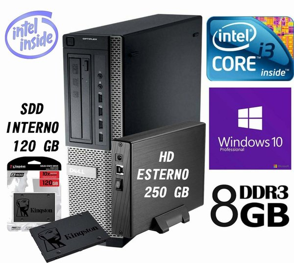 PC Dell  FISSO  i3   Ram 8 Gb   Win 10 Pro 64 SSD